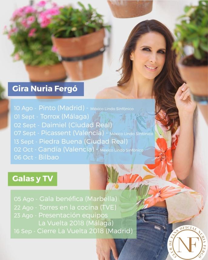 Gira Nuria Fergo 2018 Mexico Lindo Agenda